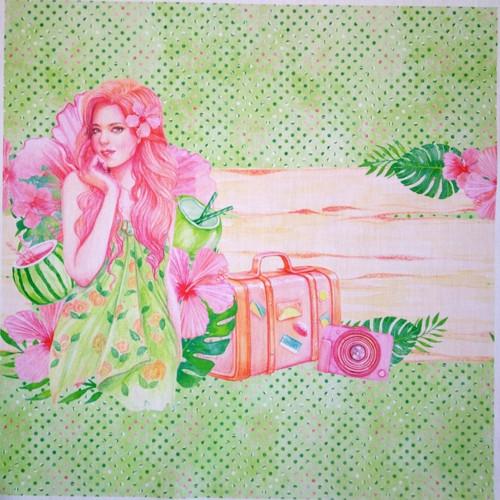 POLYBAVLNA-panel 35x35 cm SUMMER GIRLS