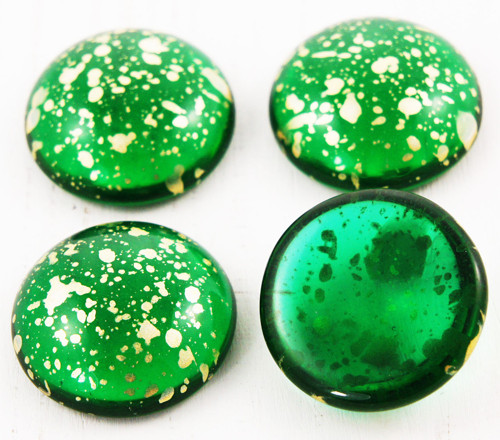 2ks Crystal Tmavě Zelená Emerald Picasso Terakota
