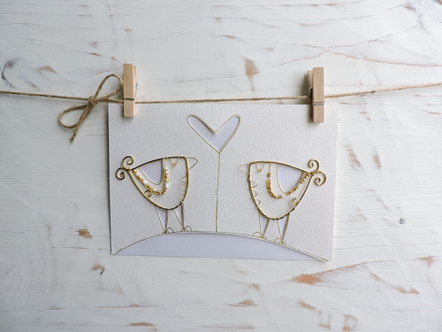 Svatební blahopřání ptáčci...