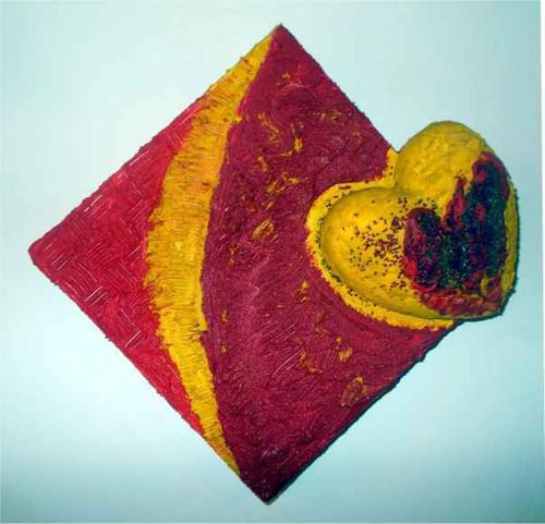 Plastický obraz - Srdce 2