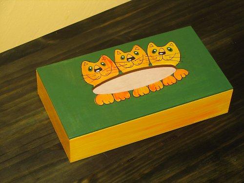 KOČIČÍ krabička na kapesníčky