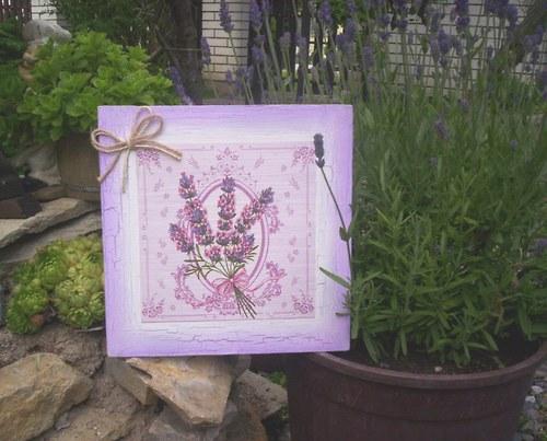 Levandulový obrázek 21 - kytička levandule