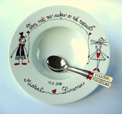 Velký svatební talíř