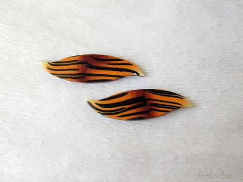 Náušnice Tygří esíčka