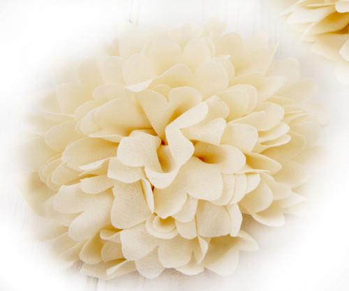 2ks krémově Bílá Předené Hedvábí Umělé Květiny Fla