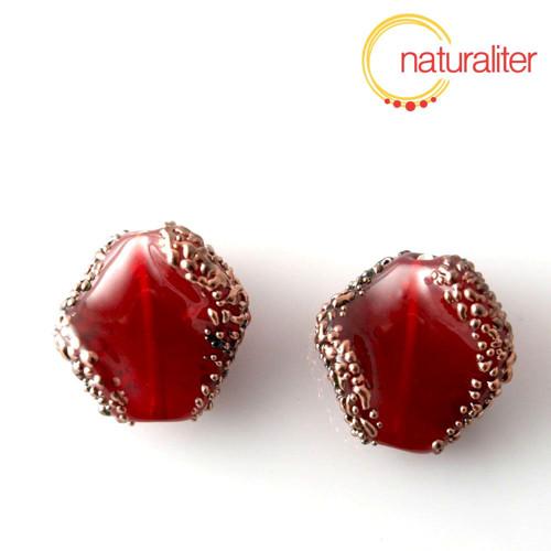 Vinutá perla červená