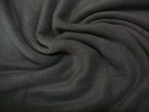 fleece - tmavě šedý - šíře 150cm