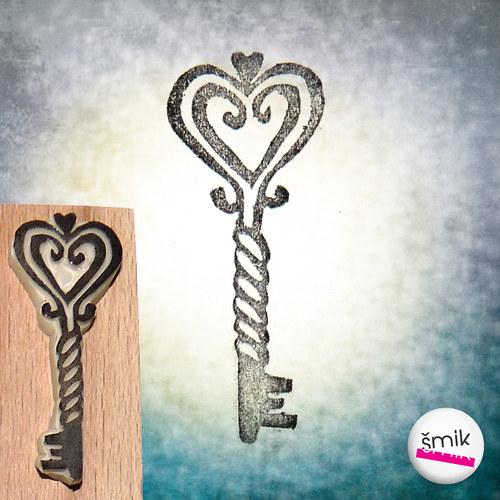 klíček – razítko