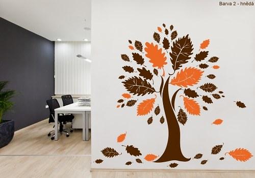 Samolepky na zeď - Mohutný dub (100 x 130 cm)