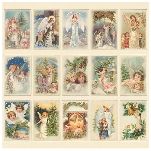 Scrapbookový papír Pion Design - Christmas Angels
