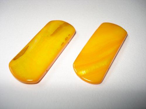 Perleťový obdélník oranžový