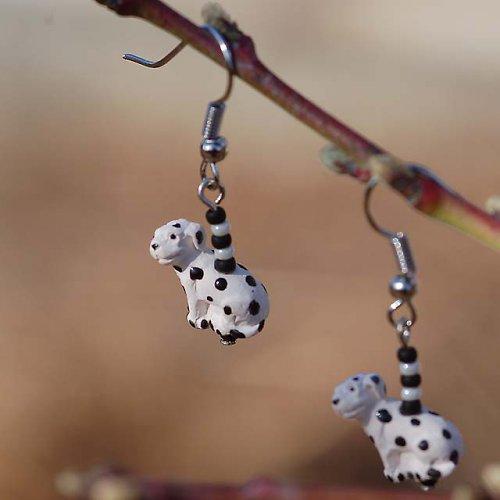 Náušky s dalmatiny
