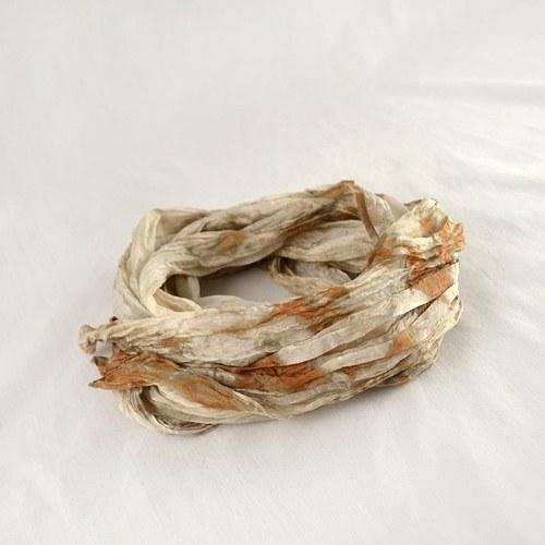 Vrapovaná šála - šedo-béžovo-hnědá světlejší