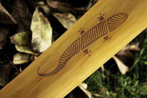Didgeridoo s ještěrkou