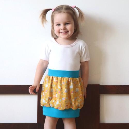 """Super sukně \""""lesní zvířátka\"""", pro 3-4 roky"""