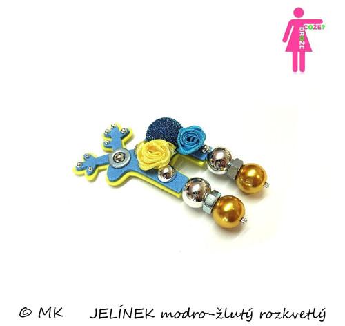 JELÍNEK modro-žlutý rozkvetlý