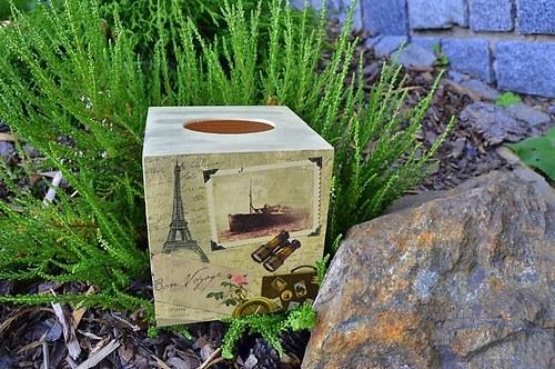 Krabička na kapesníky - Paříž