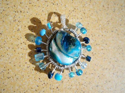 perleťka modrá