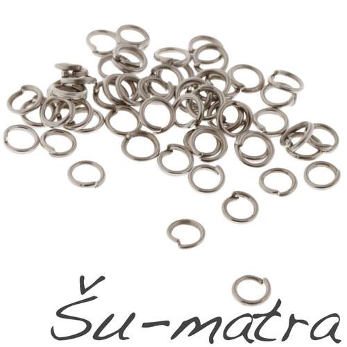 Kroužky platinové, 4x0,7 mm