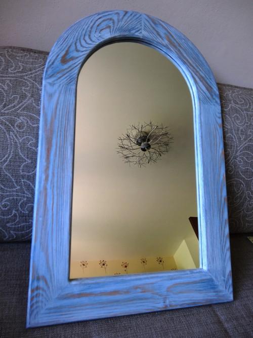Zrcadlo s obloukem a masivním rámováním 046