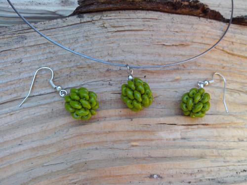 VÝPRODEJ! Kuličky olivové