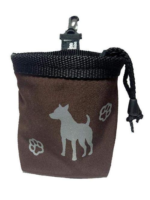 Reflexní pamlskovník Dog hnědý