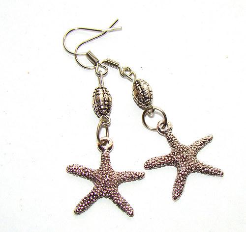náušnice  mořské hvězdice