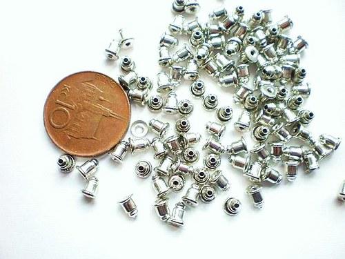 Kovové špunty zarážky na náušnice 4 kusy