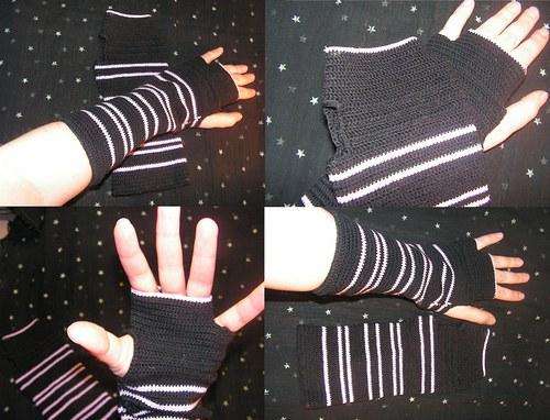 Háčkované rukavičky / návleky