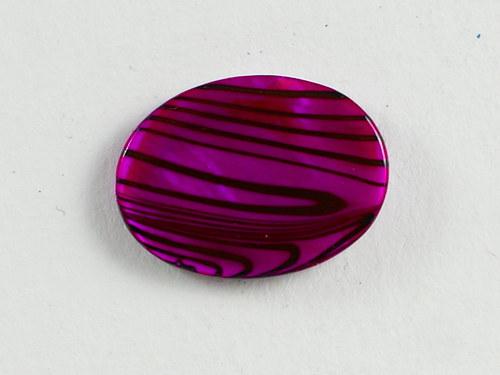 2ks perleťové oválky 13x18mm