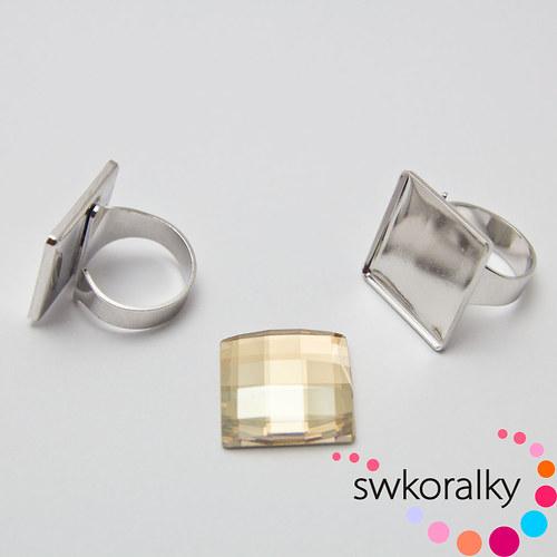 Prsteny na CHESSBOARD kámen 20 SWAROVSKI®ELEMENTS