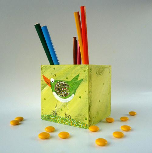 vykrajovátko na tousty - zelené s ptáčkem