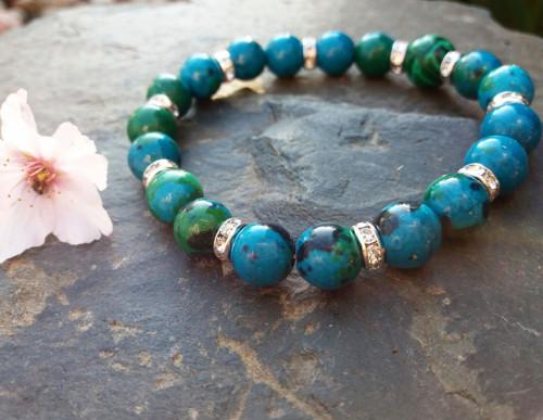 Náramek z minerálů lapis lazuli