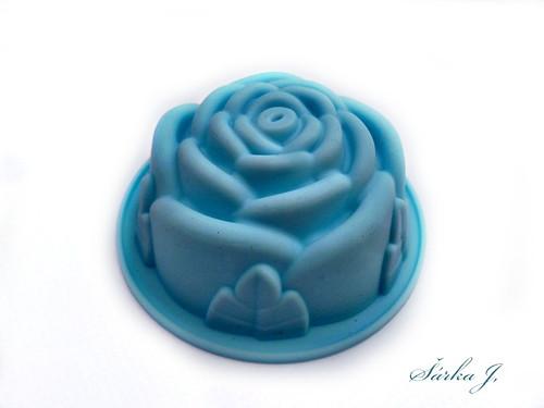 silikonová forma na mýdlo - růžička