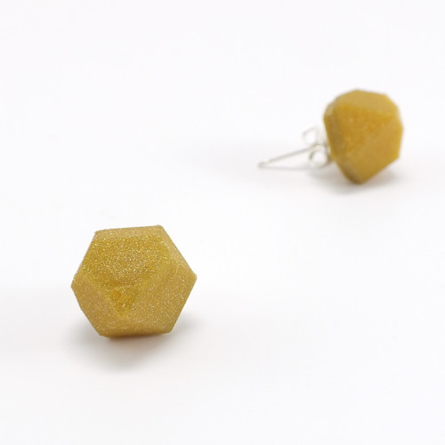 Náušnice krystal gold