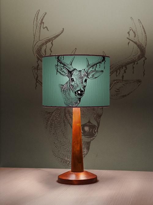 Stínítko na lampu Louka zelená - stolní/stropní