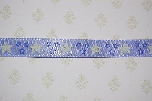 Saténová stuha 10 mm: hvězdičky- fialová