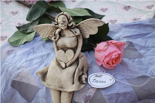 keramický Anděl Barbara