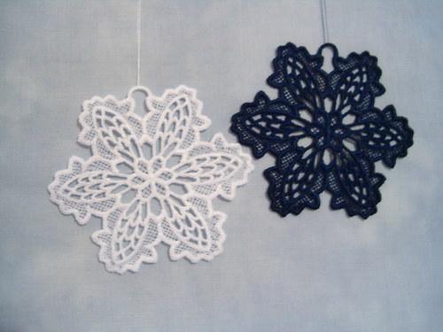 Vánoční ozdoba - sněhová vločka bílá A6272