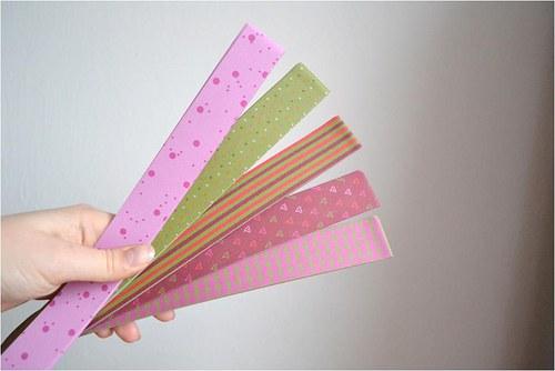 Papírové proužky 25mmx88cm,15mmx44cm, balení 60ks
