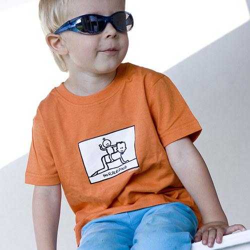 Jízda na tatínkovi - dětské triko s potiskem