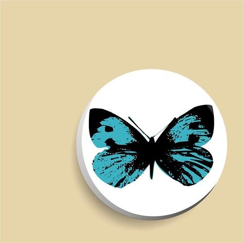 zrcátko - modrý motýl