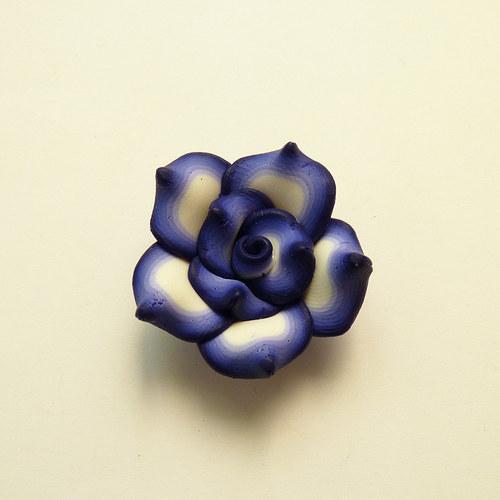 FIMO kytka modrá