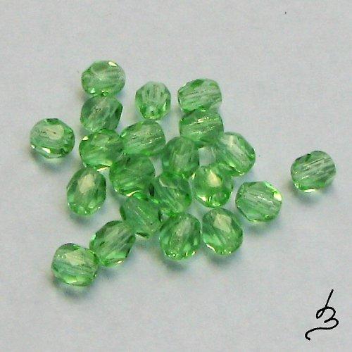 Broušené zelené 4 mm, 50 ks