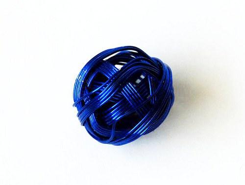 Kulička z drátu 18mm - modrá