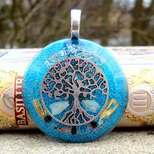 Strom Života 2 * Amulet * Akvamarin s Granátky