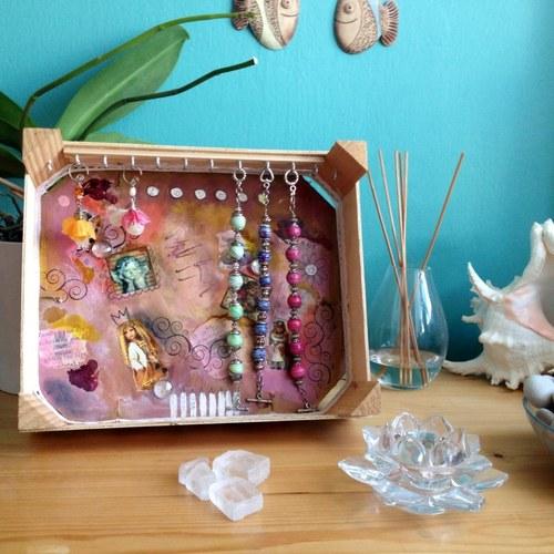 stojánek na šperky - Růžová víla