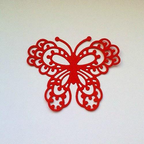 Výsek - Motýl (velký)