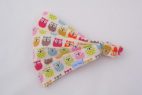 Holčičí šátek - sovičky barevné