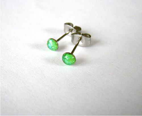 Zelené neonky...mini chir.oceli 4mm antialergenní